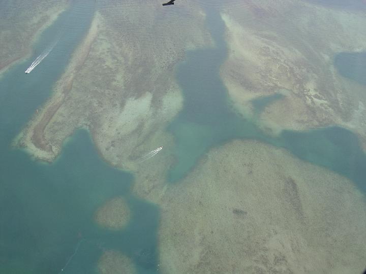Resan Flygkort Over Havet Och Reven I Kk